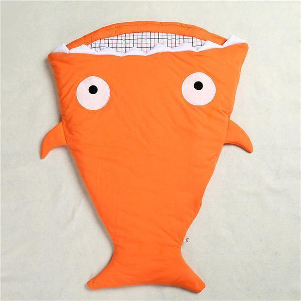 Mr. Shark Baby Sleeping Bag Orange Baby Sleeping Bag trendpicky