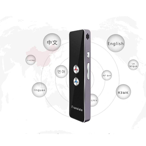 Multi-Language Portable Smart Voice Translator Black Edition (30+ Languages) Multi-Language Portable Smart Voice Translator trendpicky