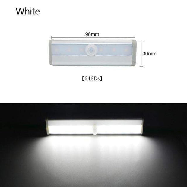 Multi-Use Motion Sensor LED Lights 6 Led Cool White trendpicky