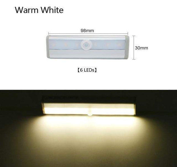 Multi-Use Motion Sensor LED Lights 6 Led Warm White trendpicky