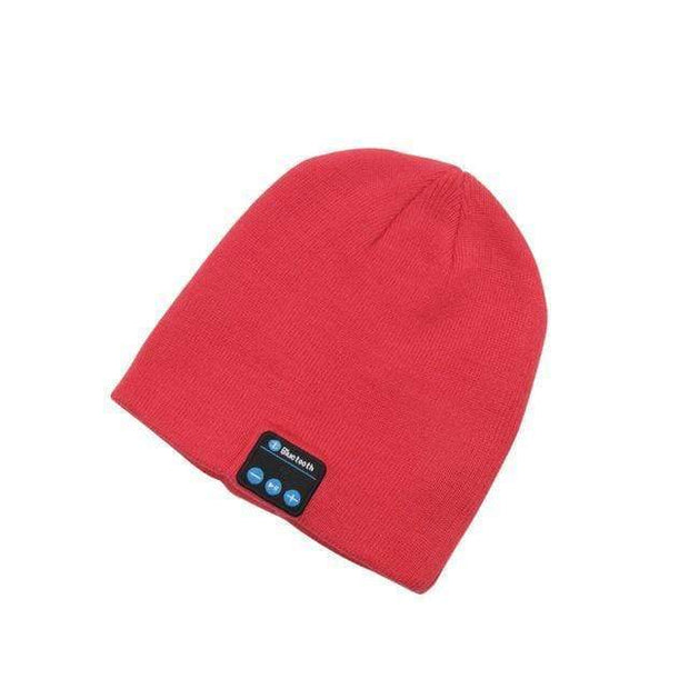 Music Bluetooth Beanie Red Music Bluetooth Beanie trendpicky