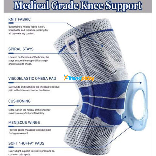 Nylon Full-Support Knee Brace (1PC) Knee Supoort trendpicky