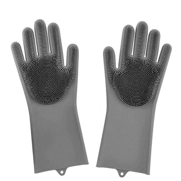 Original Magic Dishwashing Gloves (BPA Free) Grey Magic Dishwashing Gloves trendpicky