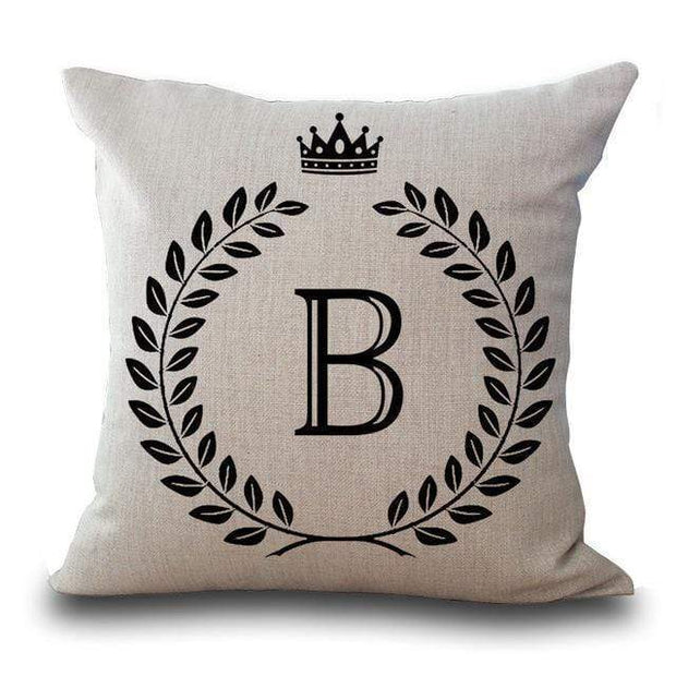 Personalized Alphabet Pillow Cover B Pillow Cover trendpicky
