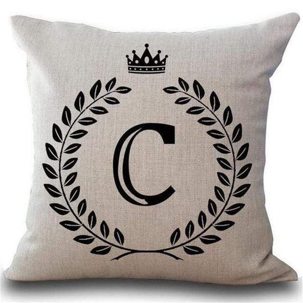 Personalized Alphabet Pillow Cover C Pillow Cover trendpicky
