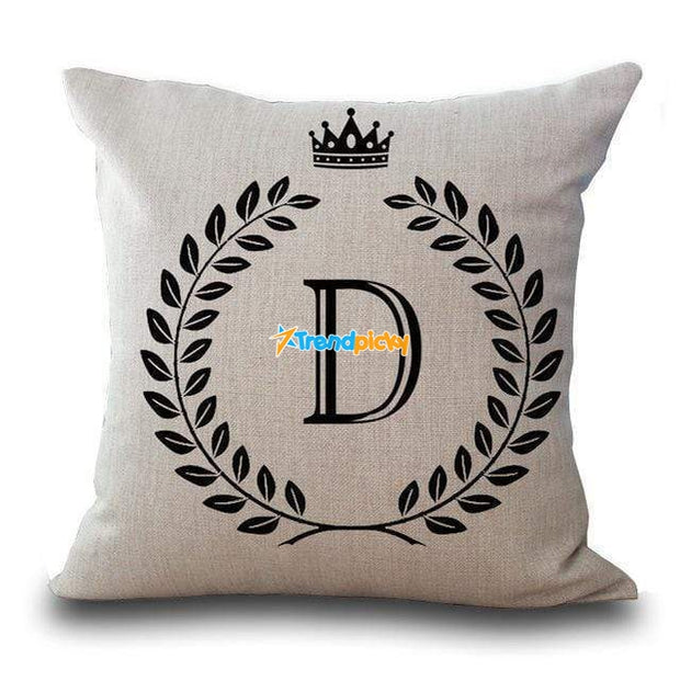Personalized Alphabet Pillow Cover D Pillow Cover trendpicky