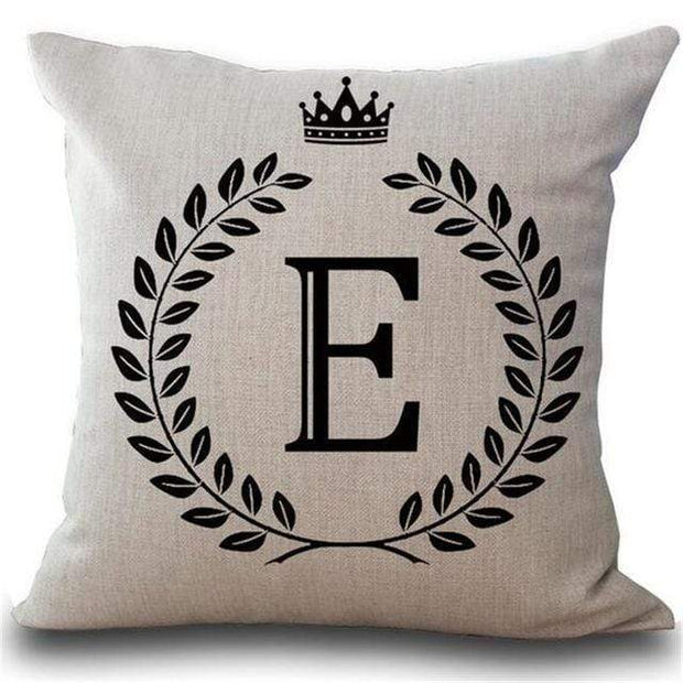 Personalized Alphabet Pillow Cover E Pillow Cover trendpicky