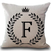 Personalized Alphabet Pillow Cover F Pillow Cover trendpicky