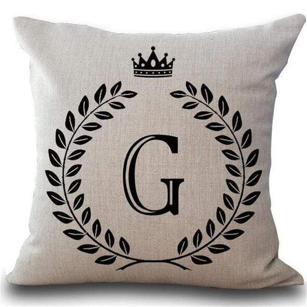 Personalized Alphabet Pillow Cover G Pillow Cover trendpicky