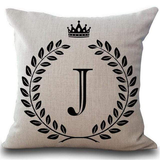 Personalized Alphabet Pillow Cover J Pillow Cover trendpicky