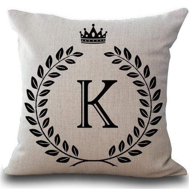 Personalized Alphabet Pillow Cover K Pillow Cover trendpicky