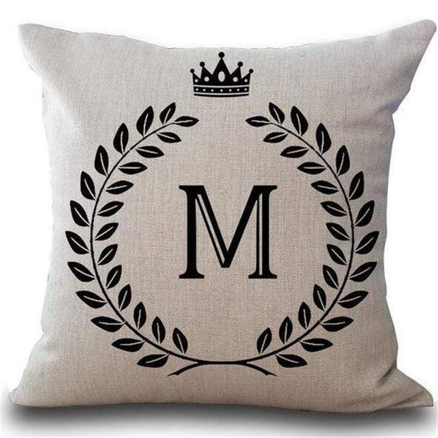 Personalized Alphabet Pillow Cover M Pillow Cover trendpicky