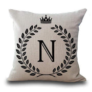 Personalized Alphabet Pillow Cover N Pillow Cover trendpicky