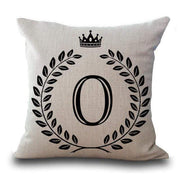 Personalized Alphabet Pillow Cover O Pillow Cover trendpicky