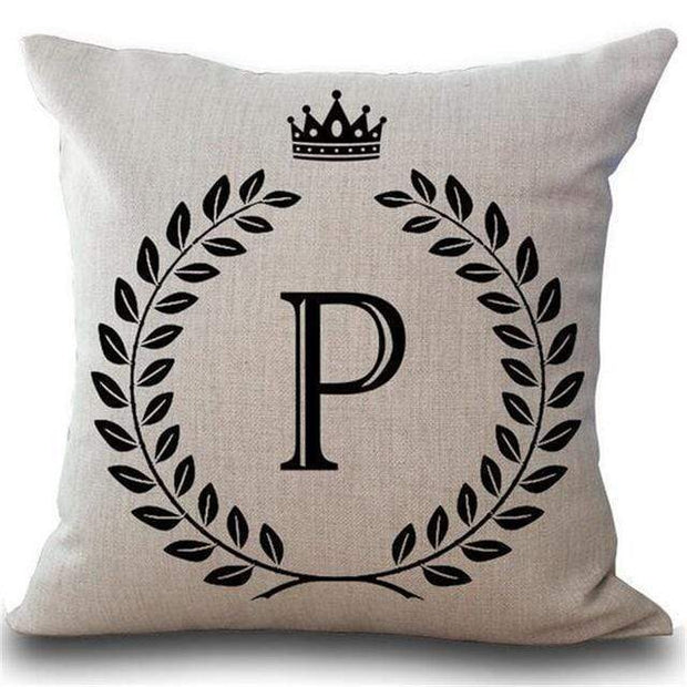 Personalized Alphabet Pillow Cover P Pillow Cover trendpicky
