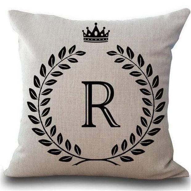 Personalized Alphabet Pillow Cover R Pillow Cover trendpicky