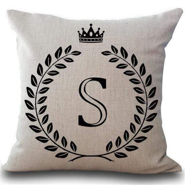Personalized Alphabet Pillow Cover S Pillow Cover trendpicky