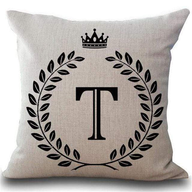 Personalized Alphabet Pillow Cover T Pillow Cover trendpicky
