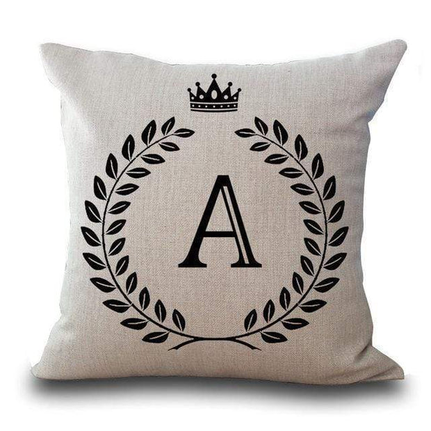 Personalized Alphabet Pillow Cover Pillow Cover trendpicky