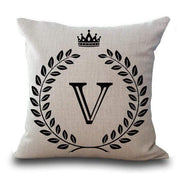 Personalized Alphabet Pillow Cover V Pillow Cover trendpicky