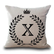 Personalized Alphabet Pillow Cover X Pillow Cover trendpicky