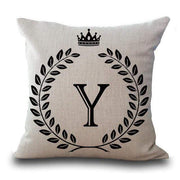 Personalized Alphabet Pillow Cover Y Pillow Cover trendpicky