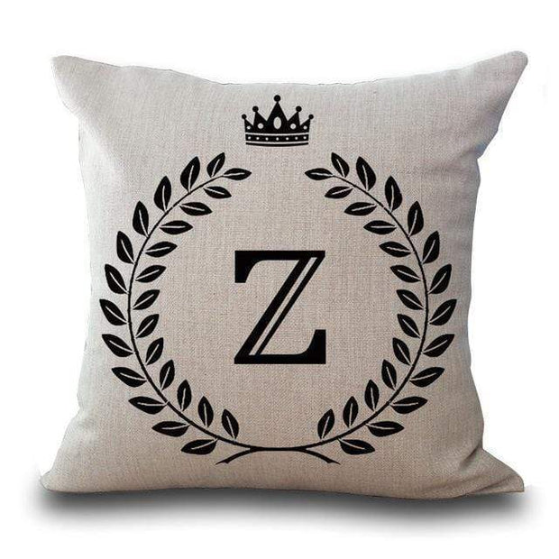 Personalized Alphabet Pillow Cover Z Pillow Cover trendpicky