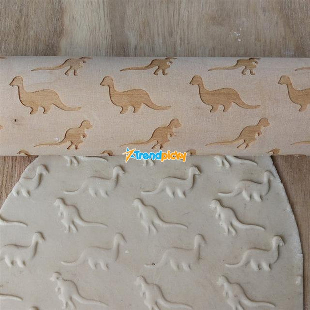 Pet Lover 3D Rolling Pin Dinosaur Pattern Pet Lover 3D Rolling Pin trendpicky