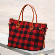 Plaid Weekender Tote Bag Red Plaid Weekender Tote Bag trendpicky