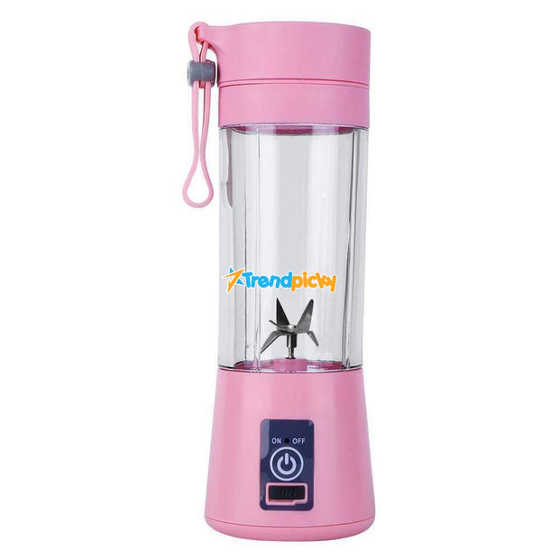 Portable Bottle Blender Pink Portable Bottle Blender trendpicky
