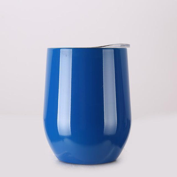 Portable Insulated Wine Cup Blue DrinkUp Portable Insulated Wine Cup trendpicky