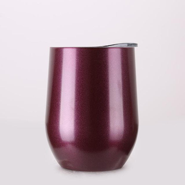 Portable Insulated Wine Cup Chrome Burgundy DrinkUp Portable Insulated Wine Cup trendpicky