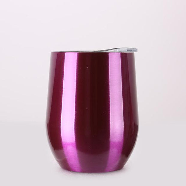 Portable Insulated Wine Cup Chrome Purple DrinkUp Portable Insulated Wine Cup trendpicky