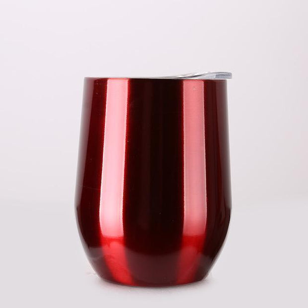 Portable Insulated Wine Cup Chrome Red DrinkUp Portable Insulated Wine Cup trendpicky