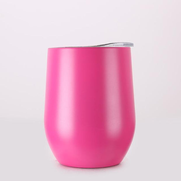 Portable Insulated Wine Cup Hot Pink DrinkUp Portable Insulated Wine Cup trendpicky