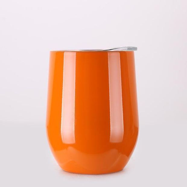 Portable Insulated Wine Cup Orange DrinkUp Portable Insulated Wine Cup trendpicky