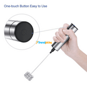 Powerful Double Spring Whisk Electric Milk Frother trendpicky