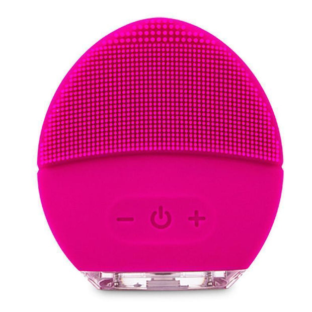 Rechargeable Silicone Facial Cleaner Pink Rechargeable Silicone Facial Cleaner trendpicky