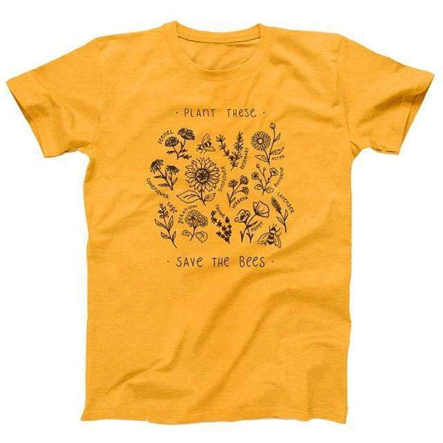 Save The Bee's Shirt Yellow / S T-Shirt trendpicky