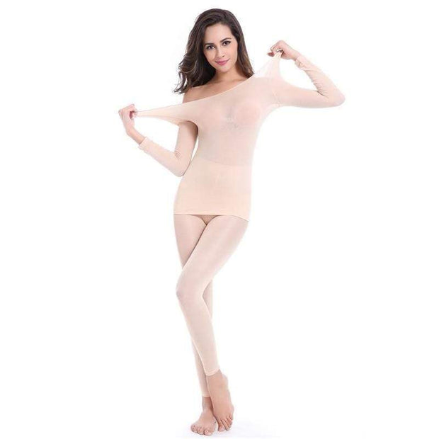 Seamless Thermal Underwear Set One Size / Nude Seamless Thermal Underwear Set trendpicky