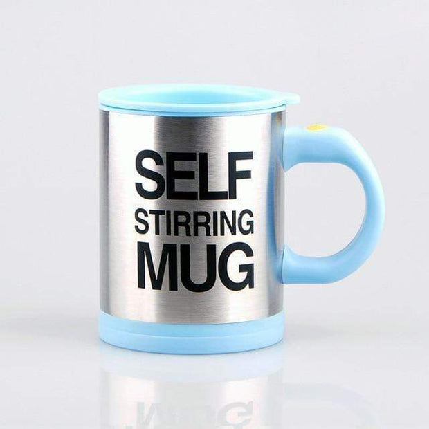 Self-Stirring Coffee Mug Light blue Self Stirring Mug with Lid trendpicky