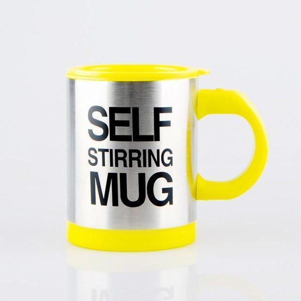 Self-Stirring Coffee Mug Yellow Self Stirring Mug with Lid trendpicky