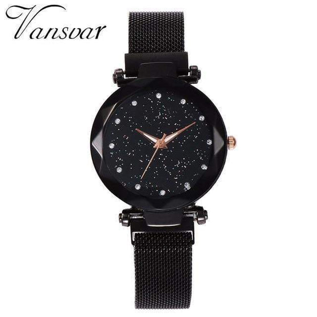 Super Cute Starry Sky Women's Wristwatch black Wristwatch trendpicky