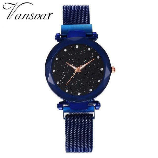 Super Cute Starry Sky Women's Wristwatch blue Wristwatch trendpicky