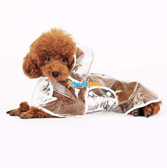 Transparent Dog Raincoat S / White Pets trendpicky