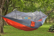 Treehouse Mosquito Net Hammock Gray / Orange Others & Gifts trendpicky