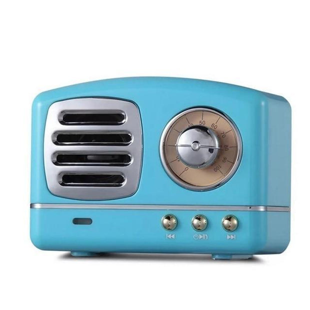 Vintage Bluetooth Speaker Blue Vintage Bluetooth Speaker trendpicky