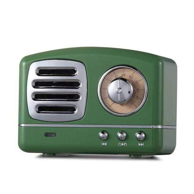 Vintage Bluetooth Speaker Green Vintage Bluetooth Speaker trendpicky