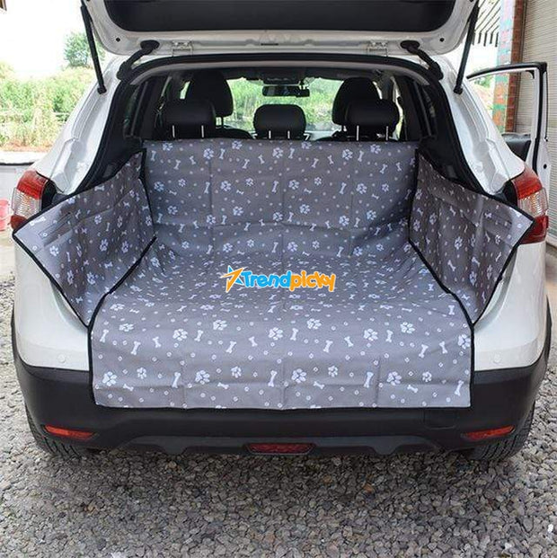 Waterproof Dog Hammock Car Seat Cover 60x40x12 Inches / Paws & Bones Gray Waterproof Dog Hammock Car Seat Cover trendpicky