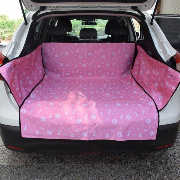 Waterproof Dog Hammock Car Seat Cover 60x40x12 Inches / Paws & Bones Pink Waterproof Dog Hammock Car Seat Cover trendpicky